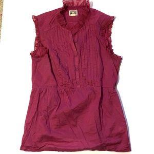 Converse One star sleeveless ruffle blouse M